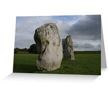 Dogstone - Avebury stone circle Greeting Card