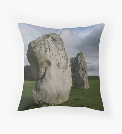 Dogstone - Avebury stone circle Throw Pillow
