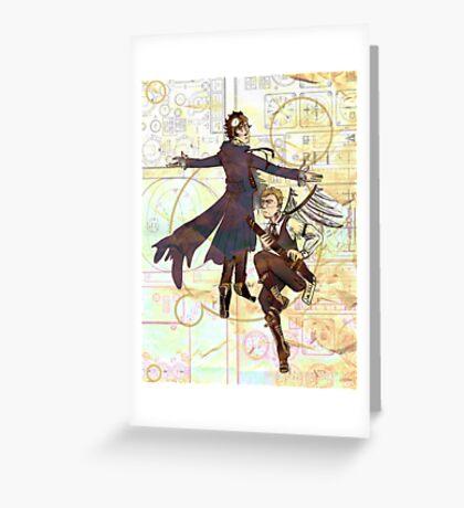 Sherlock Steampunk Greeting Card