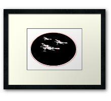 UFO SHADO Interceptors Framed Print