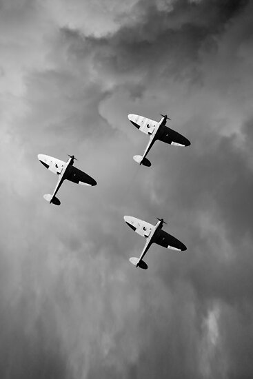 Into the gathering storm, black and white version by Gary Eason + Flight Artworks
