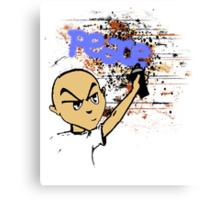 Peace Graffiti - Grunge T-Shirt Canvas Print