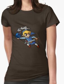 Blue toon link Womens Fitted T-Shirt