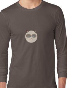Minimal Grumpy Cat Long Sleeve T-Shirt