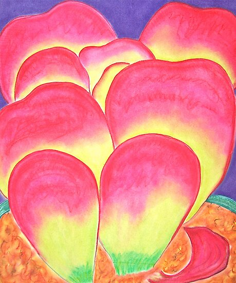 Paddle Plant in Pastel Colors by Christine Chase Cooper