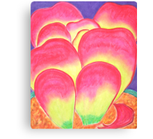 Paddle Plant in Pastel Colors Canvas Print