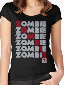 Zombie Stacked Women's Fitted Scoop T-Shirt