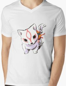 Okami Mens V-Neck T-Shirt