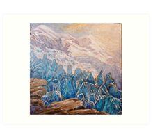 seracs, glaciers, Mont Blanc, Art Print