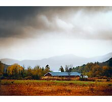 Breaking Light Over a Small Farm Photographic Print