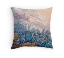 seracs, glaciers, Mont Blanc, Throw Pillow
