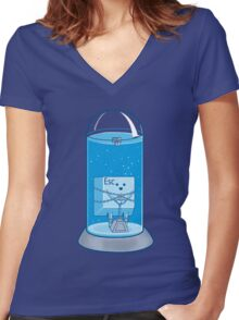 The Escape Artist Women's Fitted V-Neck T-Shirt
