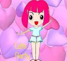 Lets Party iPhone case by Dennis Melling