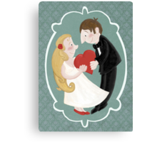 Happily in love Canvas Print