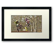 First Jump Framed Print