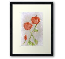 These Flowers Of Blood Framed Print