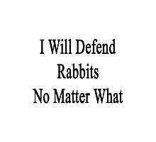 I Will Defend Rabbits No Matter What Photographic Print