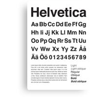 Typography Poster Helvetica Alphabet Canvas Print
