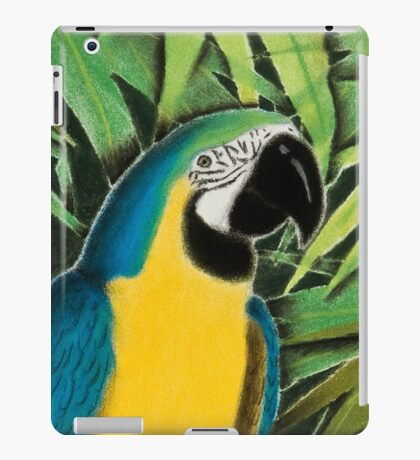 Gold And Blue Macaw iPad Case/Skin