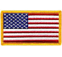 American, ARMY, Flag, Embroidered, Stars and Stripes, USA, United States, America, Military Badge Photographic Print