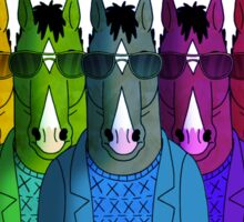 Bojack Horseman - Sunglasses (RAINBOJACK) Sticker
