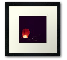 Red Hot Air Balloon Framed Print