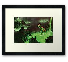 Monster Hotspring Framed Print