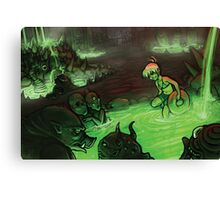 Monster Hotspring Canvas Print