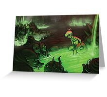 Monster Hotspring Greeting Card