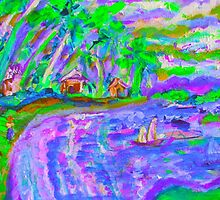 Hot Island, Cool Water by artqueene