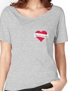 Dean Winchester heart Women's Relaxed Fit T-Shirt