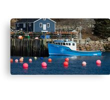 Nova Scotia Fishing Village Canvas Print