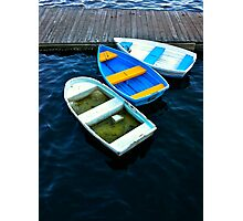 Abandoned rowboats make their escape Photographic Print
