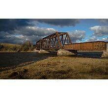 Abandoned Train Bridge Photographic Print