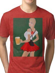 Beer wench t shirt Tri-blend T-Shirt