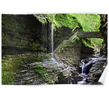Rainbow Falls and Stone Bridge Poster