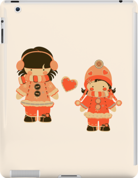 Orange Snow Sisters by eppiepeppercorn