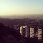 Hollywood sign by Santamariaa