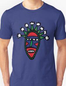 Cartoon Tribal Mask Unisex T-Shirt