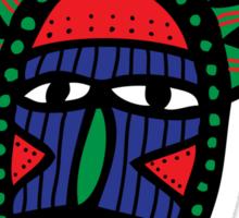 Cartoon Tribal Mask Sticker