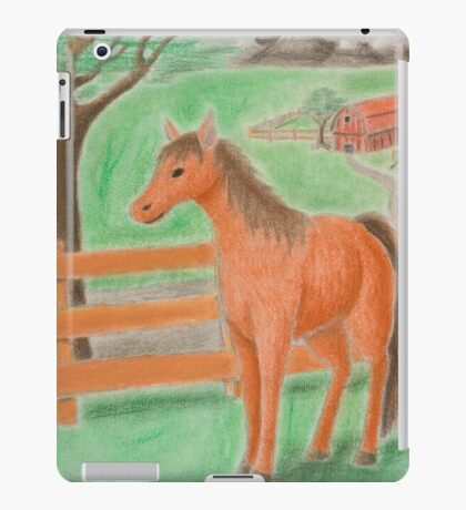 Horse on Farm iPad Case/Skin