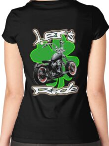 Let's Ride Saint Patty's Day Women's Fitted Scoop T-Shirt