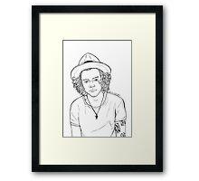 harry b&w Framed Print