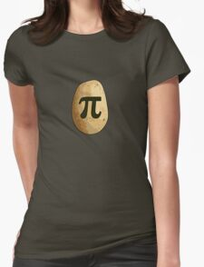 Potato Pi Womens Fitted T-Shirt
