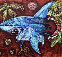 Zombie Eats Shark by Laura Barbosa