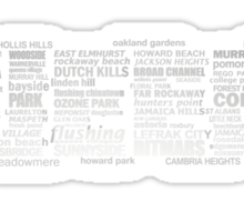Queens NY Typography Text Sticker
