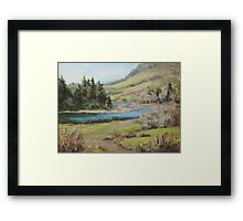 North Bank March Framed Print