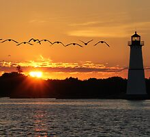Rock Island Lighthouse by Lori Deiter