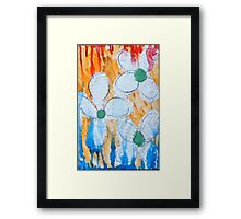 Shy Flowers Framed Print