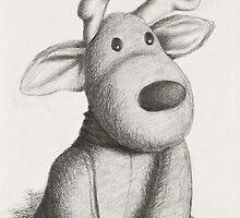 Stuffed Toy Reindeer by jkartlife